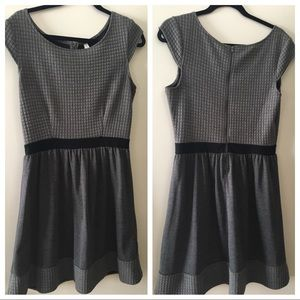 Grey and Black Waffle Dress